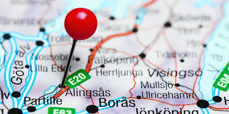 Alingsås på kartan