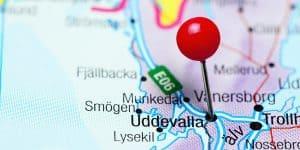 Uddevalla på kartan